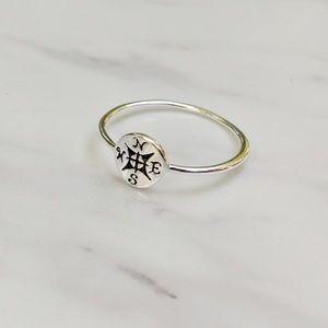 •Compass• Sterling Silver Dainty Ring